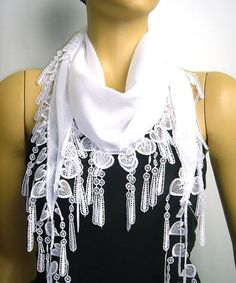 Hey, I found this really awesome Etsy listing at https://www.etsy.com/listing/170901911/heart-scarf-white-lace-scarf-with-white