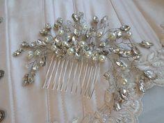 Bridal Haircomb Crystal Hair Comb by MagicBluebellDesigns on Etsy
