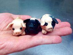 Little polymer piglets by NeonHorseDesign on Etsy