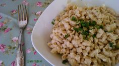 zabpehelylisztes túrós nokedli 1 Diabetic Recipes, Diet Recipes, Healthy Recipes, Risotto, Side Dishes, Clean Eating, Low Carb, Cooking, Ethnic Recipes