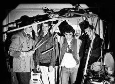 Os Replicantes na garagem em que ensaiávamos. Rua Marquês do Pombal. 1984