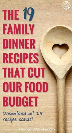 The 19 family dinner recipes that helped us reduce our food budget by 50 Dinner recipes for easy meal planning Printable recipes Free printable recipe book via smartmo. Family Meal Planning, Budget Meal Planning, Meal Planning Printable, Cooking On A Budget, Financial Planning, Family Food Budget, Meal Planning Recipes, Monthly Meal Planning, Frugal Family