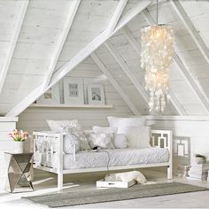 white wash vaulted.  love. image via west elm