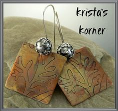 ~ Botanical ~ Balinese & Copper Forged Earrings