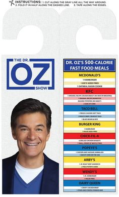 FastFoodList by Dr. Oz For those people keep going to fast food restaurants anyways. Tips of what to order that is better than most of the food there. Just in case. Fast Healthy Meals, Get Healthy, Healthy Tips, Healthy Recipes, Fast Foods, Healthy Food, Yummy Food, Mango Salsa, Fast Food List