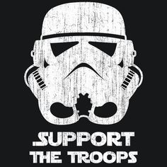 Star Wars Storm Trooper support the troops t shirt image