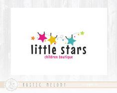 Niños Logo Diseño Logo partido Logo guardería Ave por RusticMelody1