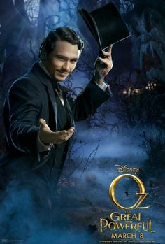 James Franco in Oz: The Great and Powerful -- See it early on March 7at 9pm in Cinemark XD and RealD 3D