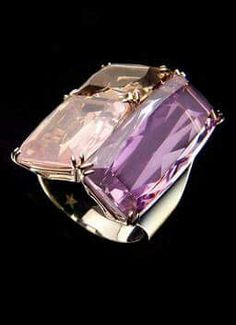 Stern   Virtual Store - Collection product description   International -  Ring in noble gold with amethyst, pink quartz, smoked quartz and diamonds. f85d0e1cff92