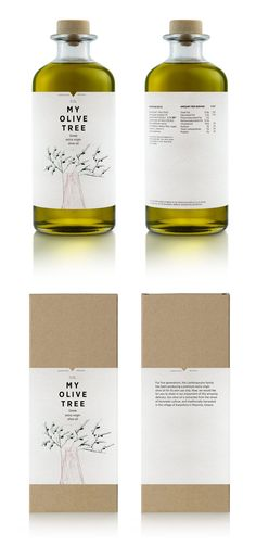 """""""My Olive Tree"""" typeface is nice, and I like the texture of the label - very natural."""