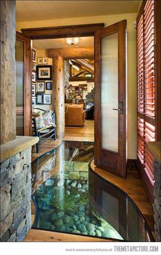 There's a river running under this house…