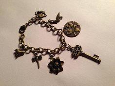 Charm Bracelet Brass Bracelet Brass Jewelry Chain by cdjali, $25.00