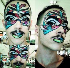Inspiração pop na maquiagem carnavalesca do @gemotta_, do Beauty Team da NYX do Morumbi Shopping