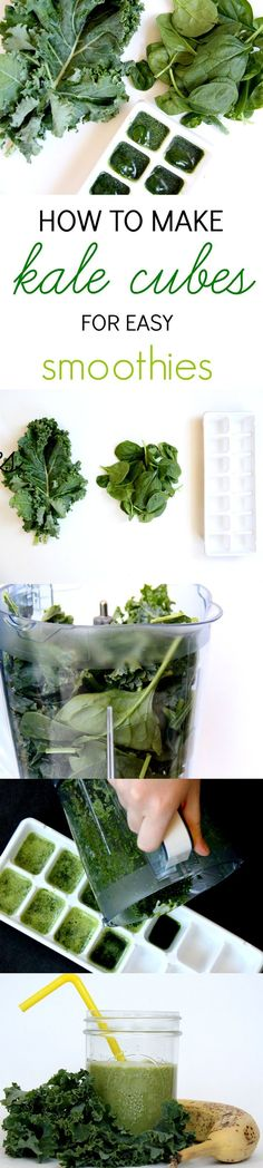 How to make easy kale cubes for smoothies