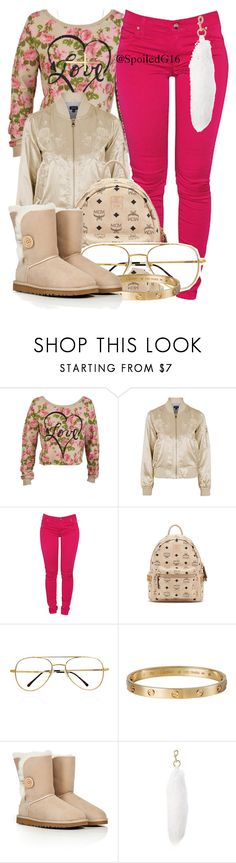 """Love."" by spoiledg16 ❤ liked on Polyvore featuring Topshop, Dollydagger, MCM, Cartier, UGG Australia and Marc Jacobs"