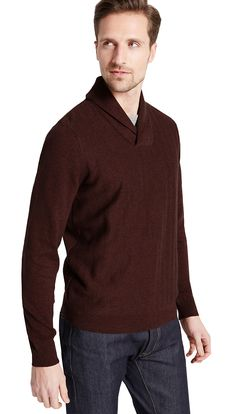 MARKS & SPENCER COLLECTION Pure Cotton Herringbone Jumper T30/2745M.  X-Large & XX-Large  MRRP: £29.50GBP - AVI Price: £19.99GBP