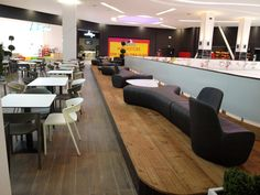 Braila Mall, Romania shopping mall  #shoppingmall #bdscontract #contractfurniture #restaurantchair #bdscontract Contract Furniture, Restaurant Chairs, Shopping Mall, Romania, Hospitality, Conference Room, Table, Projects, Home Decor
