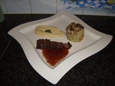 Recept voor Reefilet, pastinaakcrème en paddenstoelenrisotto. Meer originele recepten en bereidingswijze voor wildgerechten vind je op gette.org.