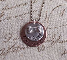 Love My Dog Necklace via Etsy.
