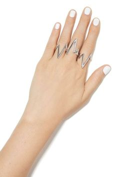 You Zig I Zag Ring Set