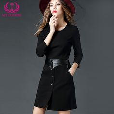 Find More Dresses Information about MYCOURSE Brief New European and American Popular Black Dress Slim Fit Round Neck Stylish Dress,High Quality dresses embroidered,China dresses girl Suppliers, Cheap dress mobile from MYCOURSE on Aliexpress.com