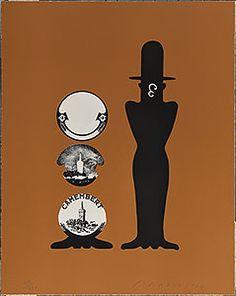 Eduardo Arroyo. Suite Senefelder. 40. Laurel y Hardy