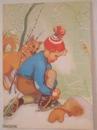 Martta Wendelin Vintage Illustrations, Illustrations And Posters, Illustration Art, Candy Art, Eye Candy, 23 November, My Land, Vintage Children, Winter Wonderland