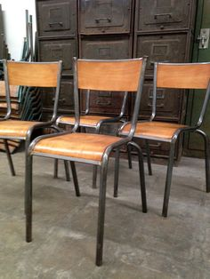 Charmant French Industrial Factory Chairs At Industrielle Attitude 4763 Eagle Rock  Blvd. Los Angeles, CA