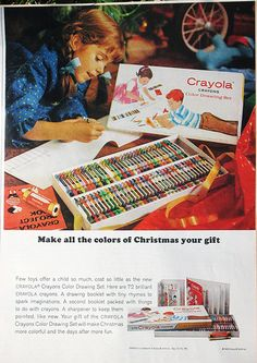 Check out this vintage Crayola ad from a 1965 Ladies Home Journal.