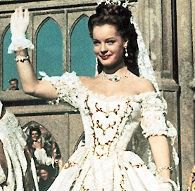 Romy Schneider as Sissi (1,1955) in the wedding dress.