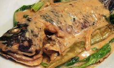 Ginataang Tilapia Philippine Cuisine, Filling Food, Philippines Food, Tilapia Recipes, Pinoy Food, Filipino Recipes, I Foods, Steak, Pork
