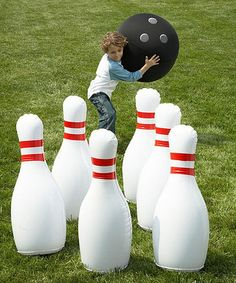 Loving this Indoor/Outdoor Giant Inflatable Bowling Set on #zulily! #zulilyfinds
