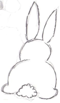 Easy Easter Bunny Drawing - Unique Easy Easter Bunny Drawing, How to Draw Cute Bunny Egg Easter