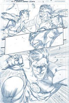 EXCLUSIVE PREVIEW: Hal Jordan and The Green Lantern Corps #2 Original Art by Rafa Sandoval & Jordi Tarragona (DC rebirth) - W.B.