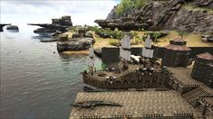 Image result for ark building ideas Ark Survival Evolved Bases, Jurassic World, Building Ideas, Games, Image, Tips, The Creation, Gaming, Toys