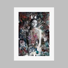 Extra large signed limited edition print 81 x 61 cms Archival pigment print on acid free 310 gsm paper edition of 20 Gsm Paper, Art Uk, Limited Edition Prints, Urban Art, Dark Side, The Darkest, Bunny, Collage, Batman