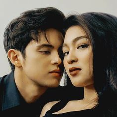 Nadine Lustre (with her side eye ) and James Reid (definitely in Nadine's personal space)