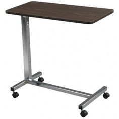 Drive Non-Tilt Overbed Table with Chrome Finish | 1800wheelchair.com