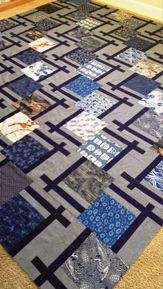 Japanese Quilt Patterns, Jelly Roll Quilt Patterns, Scrap Quilt Patterns, Japanese Quilts, Batik Quilts, Scrappy Quilts, Easy Quilts, Denim Quilts, Quilting Projects