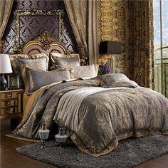 Luxury Jacquard Bedding Sets Ensembles Queen/King Size Duvet Cover – PriceSolution4U™