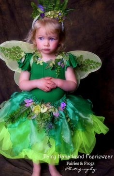 Woodland Fairy costume for children  sizes 2T up by FairyNanaLand, $135.00~ I really like the idea of having a flower girl in a fairy costume complete with fairy wings. :) I kind of like this one, but i'm not in love with it.
