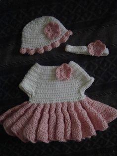 "Crochet ""Baby Ballerina"" Dress (My Original Pattern) by CrochetCrazyMama"