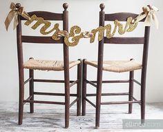 DIY Wedding Crafts : DIY Bride and Groom Wedding Banner