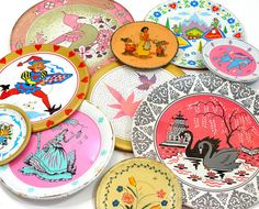 tin saucers etsy find OldeTymeNotions