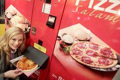 pizza in een automaat