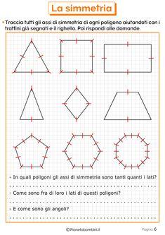 Esercizi sulla Simmetria per la Scuola Primaria | PianetaBambini.it