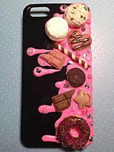 Chocolate & Strawberry Drizzle Kawaii iPhone 5 by KreativeKoala