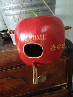 Apple Gourd Birdhouse  www.outamygourdstudio.com