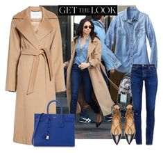 """""""Get the look Meghan Markle"""" by thestyleartisan ❤ liked on Polyvore featuring Gap, MaxMara, Aquazzura, AG Adriano Goldschmied, Yves Saint Laurent, GetTheLook and MeghanMarkle"""