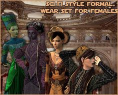 Mod The Sims - Sci-Fi Style Formal Wear Set For Female Adult